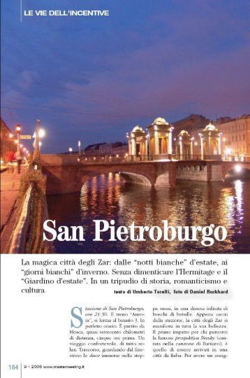 San PIETROBURGO - Umberto Torelli
