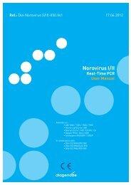 Norovirus I/II Real-Time PCR User Manual - Diagenode Diagnostics