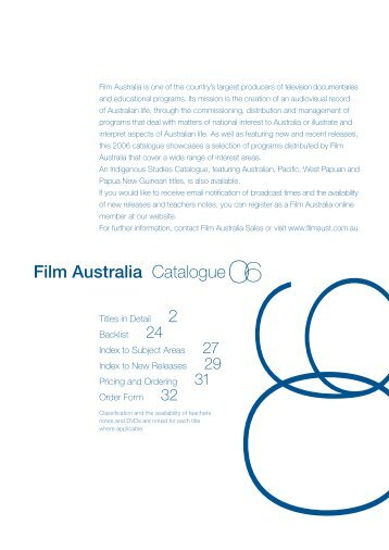 Film Australia Catalogue 2