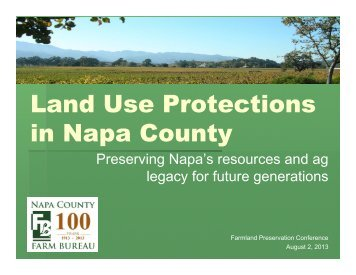Land Use Protections in Napa County