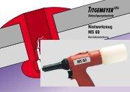 Nietwerkzeug MS 60 - Tu-val