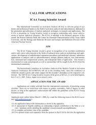 CALL FOR APPLICATIONS ICAA Young Scientist Award - Biology ...