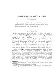 the field of moduli of quaternionic multiplication on abelian ... - UPC