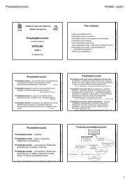 wykład I - Wydział Zarządzania - AGH
