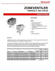 Zoneventiler med actuator og ventil sammenbygget - Honeywell