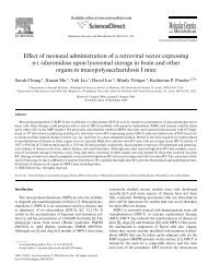 Effect of neonatal administration of a retroviral vector expressing -L ...