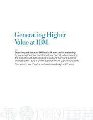 Generating Higher Value at IBM