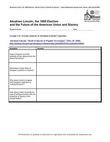 Abraham Lincoln, the 1860 Election - EDSITEment