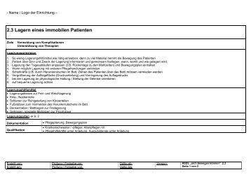 ambulanter pflegestandard nach krohwinkel aedl als pdf - Pflegestandards Beispiele