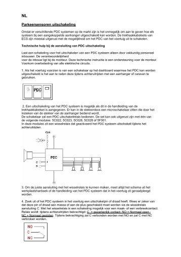 Parkeersensoren uitschakeling - ECS Electronics