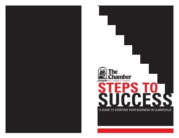 Steps To Success Booklet - Clarksville Area Chamber of Commerce