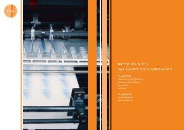 Druckerei Stuco: Mehrwerte für Markenwerte
