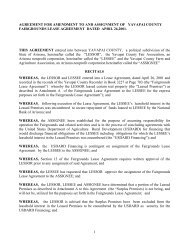 1 agreement for amendment to and assignment of yavapai county ...