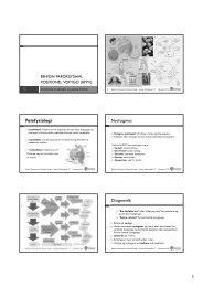 BPPV - fysioterapeutisk undersøgelse - et oplæg (pdf)