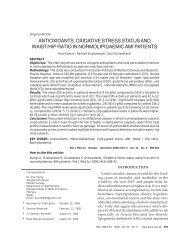 ANTIOXIDANTS, OXIDATIVE STRESS STATUS AND WAIST/HIP ...