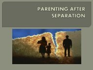 Parenting After Separation