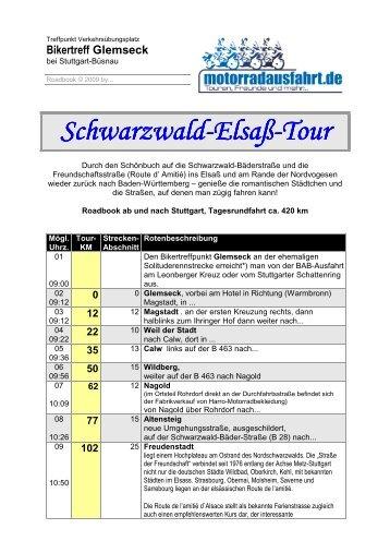 Schwarzwald Schwarzwald-Elsaß-Tour - Motorradausfahrt