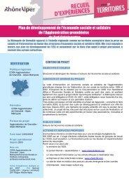 Plan de développement de l'économie sociale et solidaire de l ...
