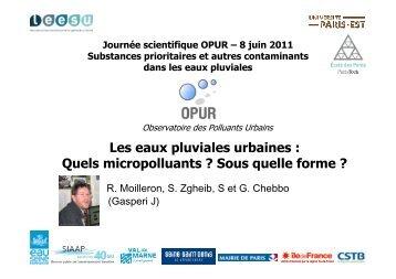 Les eaux pluviales urbaines : Quels micropolluants ? Sous ... - LEESU