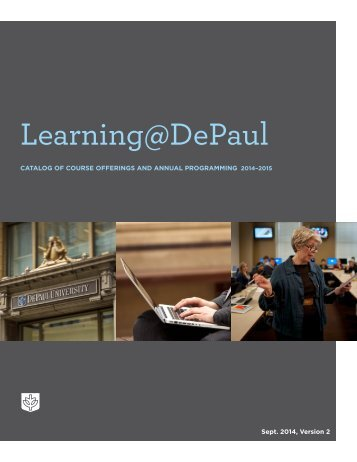Learning @ DePaul: Catalog of Course Offerings and Annual ...