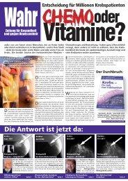 """Eine """"Welt ohne Krebs"""" - Wirtschaftsverlag W.V. Suhl"""