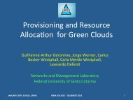 Provisioning and Resource Allocaqon for Green Clouds