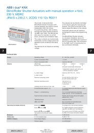 ABB i-bus® KNX Blind/Roller Shutter Actuators with manual operation