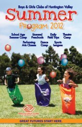 Summer 2012 Program Book (PDF) - Boys and Girls Clubs of ...