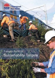Sustainability Targets - Transport for NSW - NSW Government