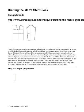 Drafting the Men's Shirt Block - BurdaStyle.com