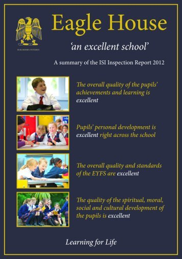 ISI Inspection Report - Eagle House School
