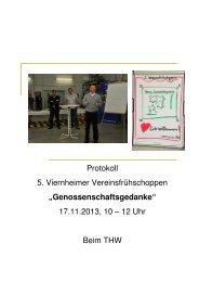 Protokoll 5. Viernheimer Vereinsfruehschoppen 17.11.2013 ...