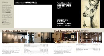 Exhibitions Schedule - New Hampshire Institute of Art