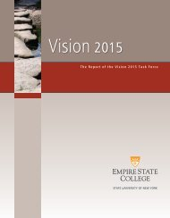 Vision 2015 Task Force - SUNY Empire State College