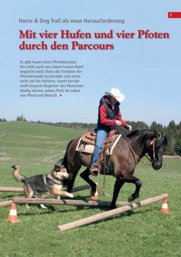 Mit vier Hufen und vier Pfoten durch den Parcours - Sabine Lang