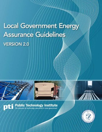 PTI Local Government Energy Assurance Guidelines - Metropolitan ...