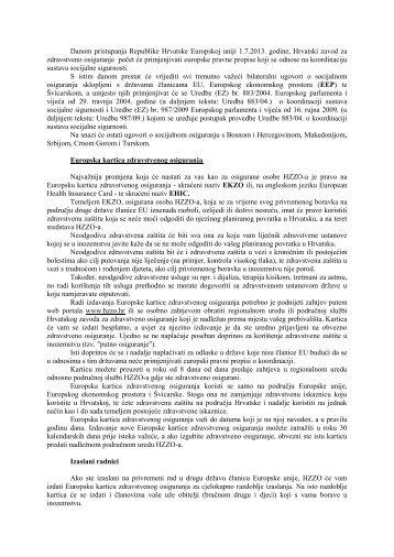 Više o tome - Hrvatski zavod za zdravstveno osiguranje