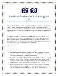 Reaching for the Stars Patch Program 2011 - Girl Scouts of Central ...