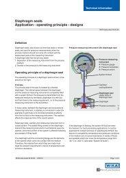 Diaphragm seals Application - operating principle - designs - sini.se