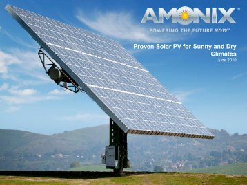Proven Solar PV for Sunny and Dry Climates - Delhi International ...