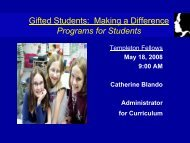Gifted Students - Templetonfellows.org