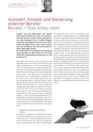 Auswahl, Einsatz und Steuerung externer Berater Berater - Www3 ...