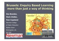 What is Enquiry –Based Learning - HERODOT Network for ...