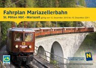 Fahrplan Mariazellerbahn - NÖVOG