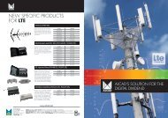 NEW SPECIFIC PRODUCTS FOR LTE - Alcad