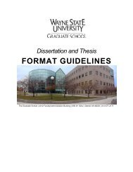 Dissertation Format Guidelines - College of Education - Wayne State ...