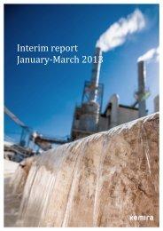 Interim report January‐March 2013 - Kemira