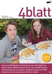 4blatt Nr. 53 - Kantonsschule Büelrain, Winterthur