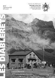 Septembre 2009 - Club Alpin Suisse - Section des Diablerets