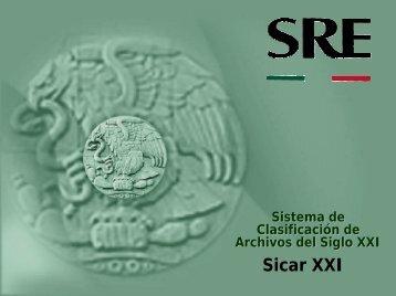 Sistema de Clasificación de los Archivos SicarXXI - Archivo General ...